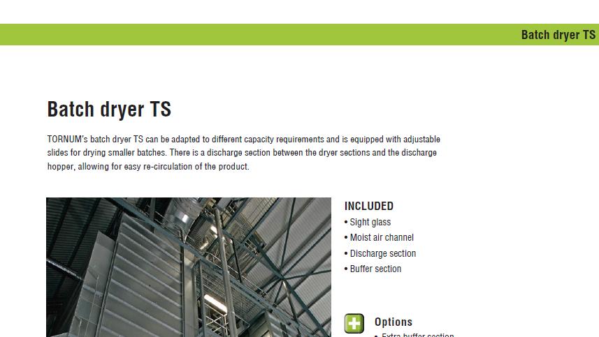 Produktblad för TS Satstork - Tornum