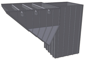 Bucket and chain elevator pit