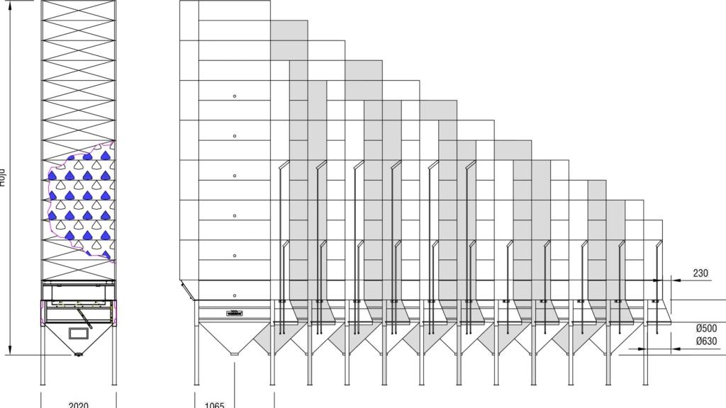 Ritning på TS2 satstork - Tornum