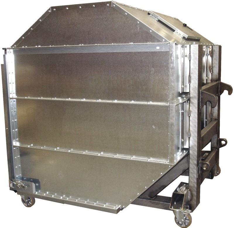 Galvanized Steel Ingot Distributor Belarus: DUST CONTAINER