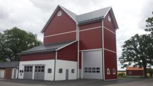 Den nya spannmålsanläggningen på Fogdegården - Tornum