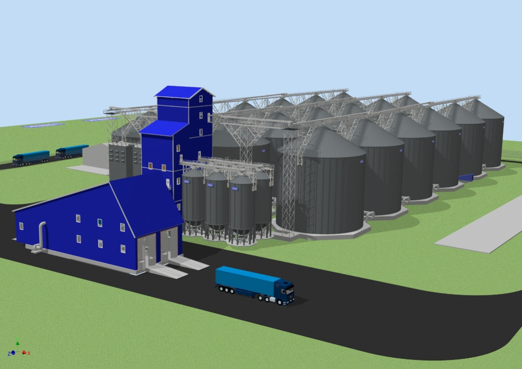 3D visualization of the entire project.